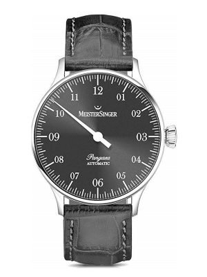 MeisterSinger pangaea black dial watch