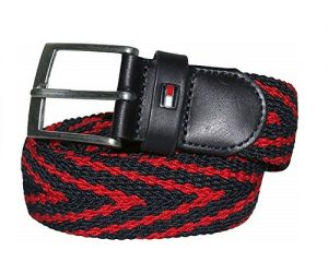 tommy-hilfiger-adan-stripe-webbing-belt-navy-Red