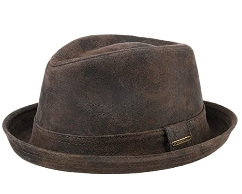 Stetson Radcliff Leather Trilby Hat
